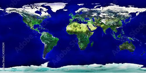 Wall Murals Northern Europe high resolution colored world map