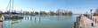 canvas print picture - balaton harbor