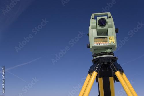 Fotografie, Obraz  land surveying under blue sky
