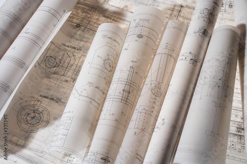 Valokuva  construction drawing