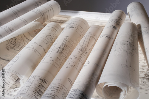 construction drawings Canvas-taulu
