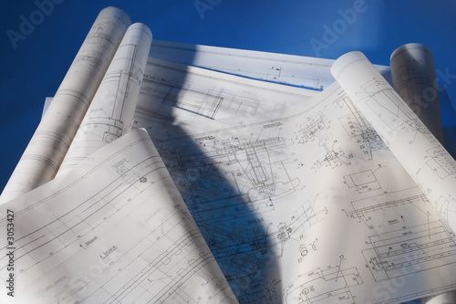 Obraz na plátně engineering drawings