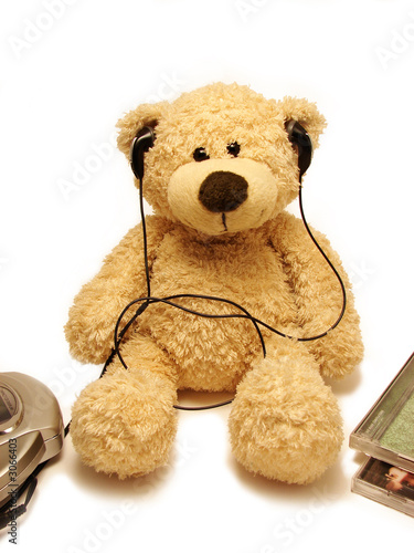 teddy-bear listening music #3066403