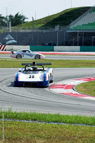 Spoed Foto op Canvas Snelle auto s racing car at the track