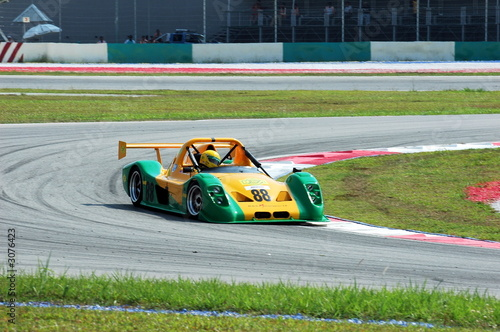 Spoed Foto op Canvas Snelle auto s race car at the track