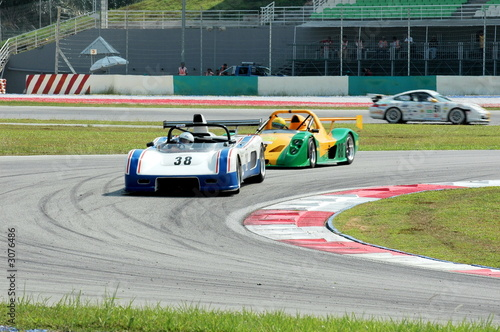 Türaufkleber Schnelle Autos racing cars
