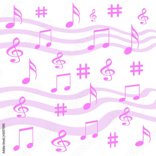 Staande foto Kasteel music notes wrap