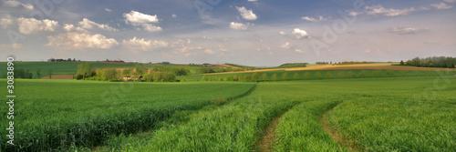 Papiers peints Vieux rose paysage de campagne