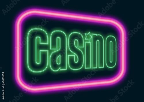 Photo  casino neon sign