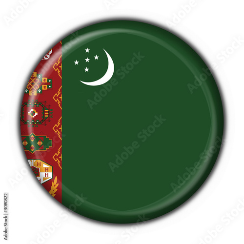 bottone bandiera turkmenistan button flag Wallpaper Mural