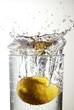 canvas print picture lemon splash 05