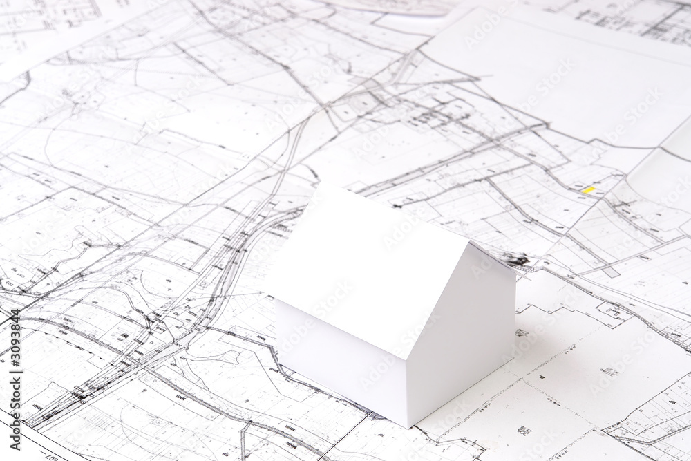 Fototapety, obrazy: future house planning
