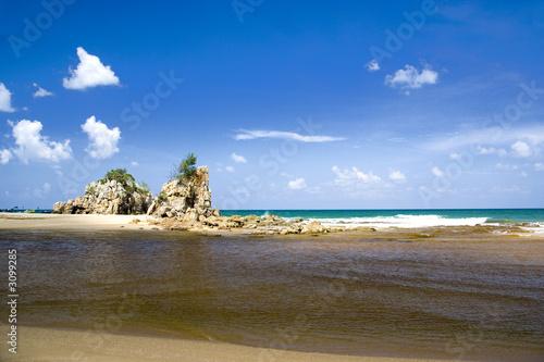 Foto op Aluminium Cathedral Cove tropical beach