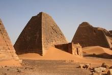 Group Of Pyramids At Meroe Sudan