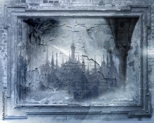 Poster Ruine gothic, pointed style