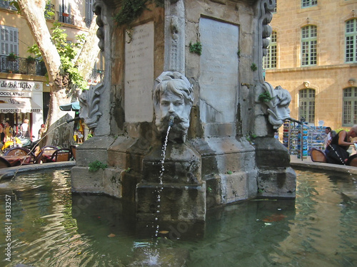artistic water fountain, aix,en,provence, marseille, france #3133257