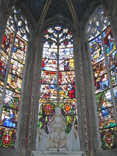Detail Of The Stained Glass Wi...