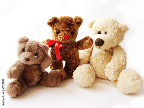 three teddy-bears #3133881
