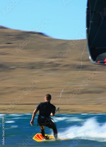 Papiers peints Arctique speed kiter with kite