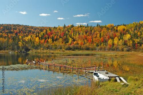 Spoed Foto op Canvas Canada paysage d'automne