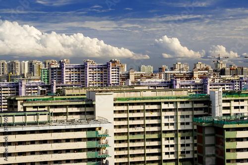 Photo  singapore skyline