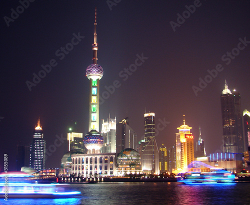 Tuinposter Shanghai night view in shanghai