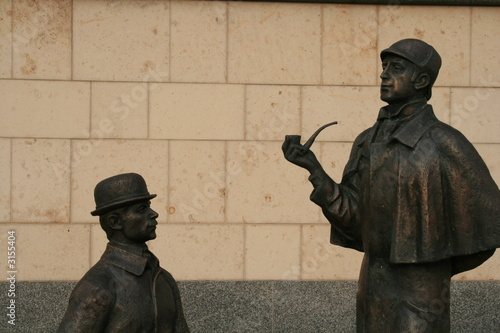 Fotomural monument of sherlock holmes and dr.watson