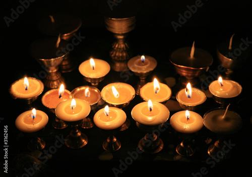Papiers peints light of a candles