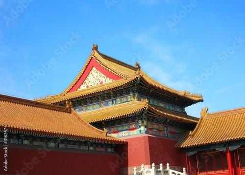 In de dag Beijing toit dans la cité interdite