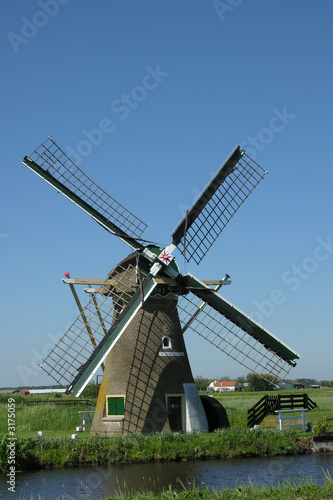 Tuinposter Molens hollande moulin