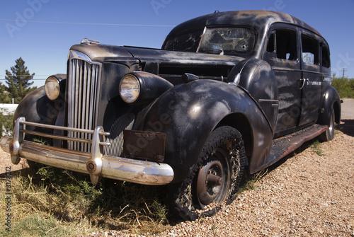 Photo  vintage funeral car