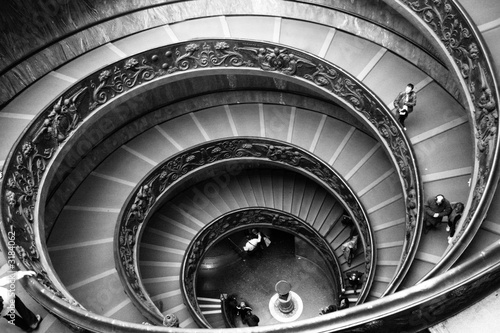 Wall Murals Black and white Vatican stairs