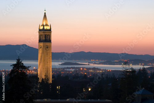 Canvas Print berkeley university clock tower