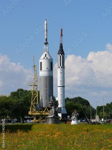 Deurstickers Nasa rocket park