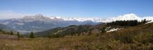 Panorama Fiz Et Mont Blanc
