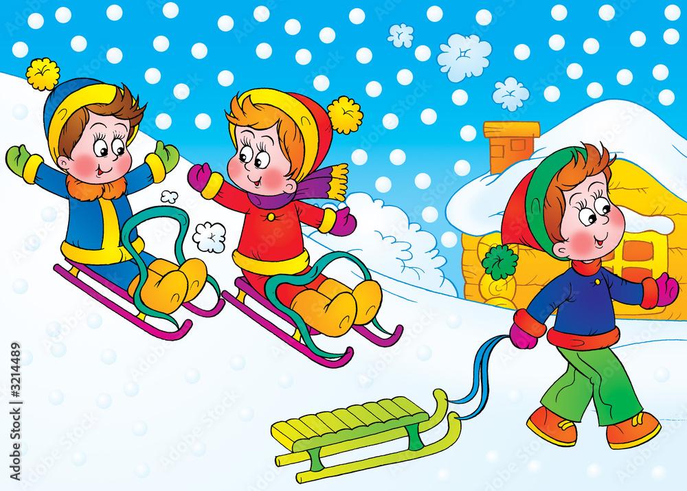 Foto-Lamellen (Lamellen ohne Schiene) - Winter games
