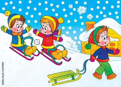 Foto-Plissee - Winter games (von Alexey Bannykh)