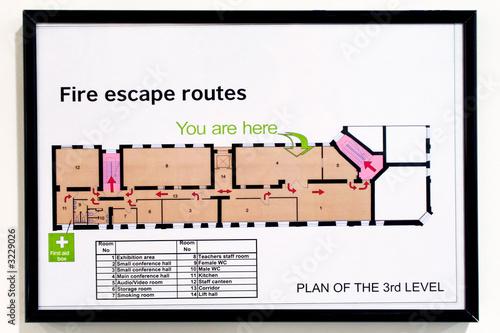 Tablou Canvas fire escape routes