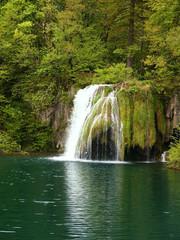 Fototapeta na wymiar beautiful forest waterfall