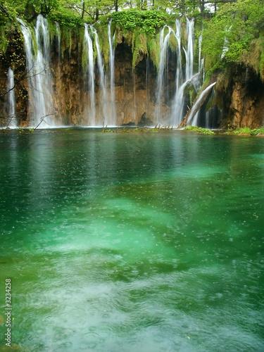 Foto op Canvas Watervallen beautiful forest waterfall