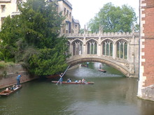 Students Punting In Cambridge
