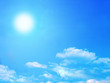 Leinwanddruck Bild sun and sky