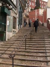 Lisboa, Treppe Zur Cidade Alta