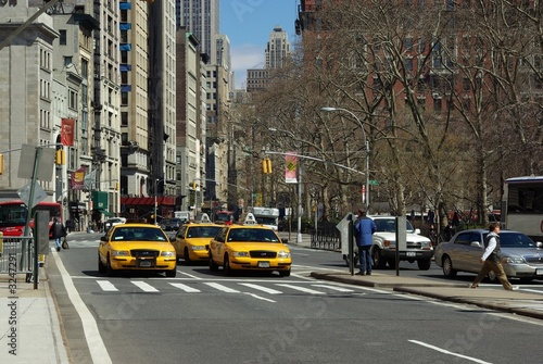 Staande foto New York TAXI yellow cabs ny