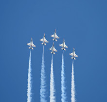The Thunder-birds Performed At An Air Show