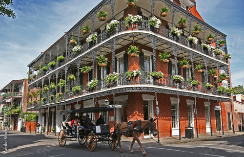 french quarter carriage Wallpaper Mural