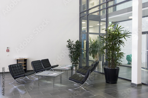 Photo lobby of a modern office building