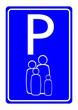 Leinwandbild Motiv family parking