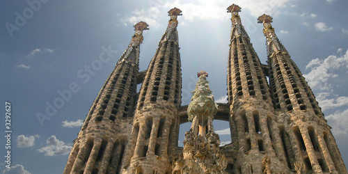 Papiers peints Barcelona sagrada familia church in barcelona, spain