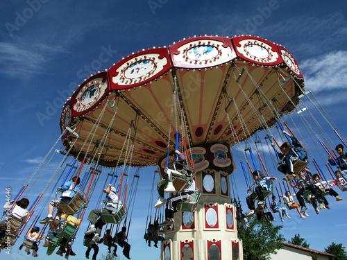 Aluminium Prints Amusement Park sillas voladoras